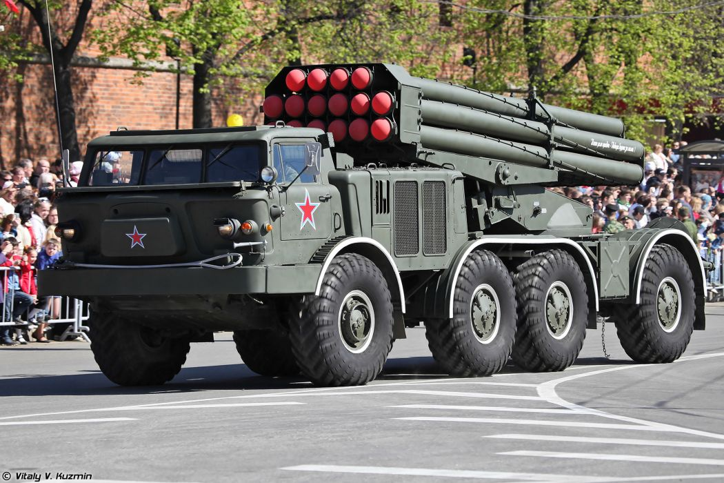 2014 Victory Day Parade-in-Nizhny-Novgorod Russia Military Russian Army Red-Star truck missile BM-27 Uragan MLRS 4000x2667 wallpaper