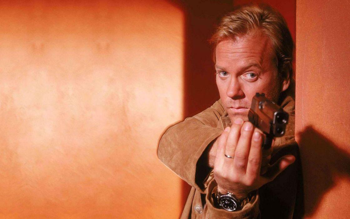 24 TWENTY-FOUR action mystery thriller crime twenty four weapon series (1) wallpaper