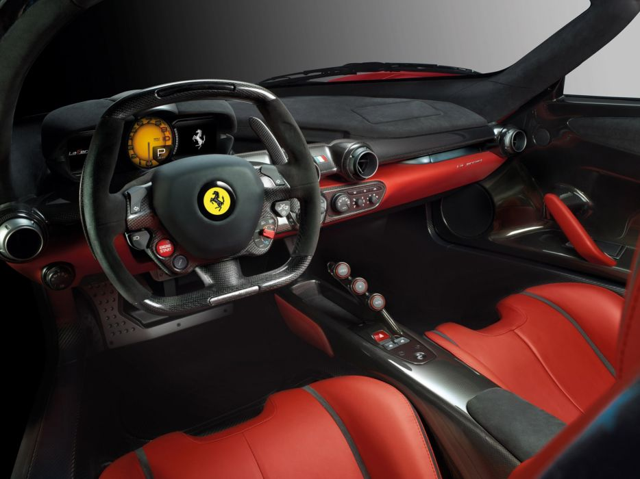 ferrari laferrari interior supercar car Italy red sport-gt 2013 4000x3000 wallpaper