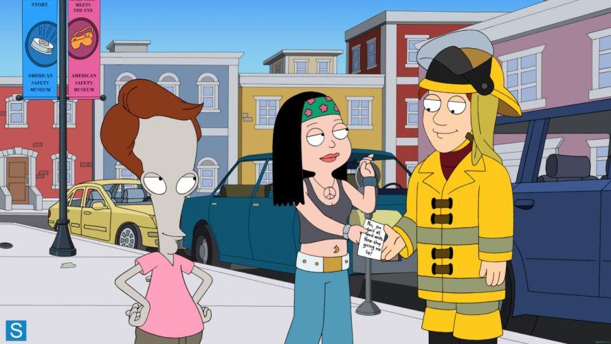 AMERICAN DAD animation comedy cartoon series family (9) wallpaper