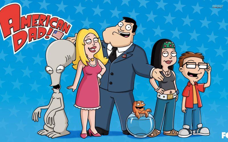 AMERICAN DAD animation comedy cartoon series family (5) wallpaper