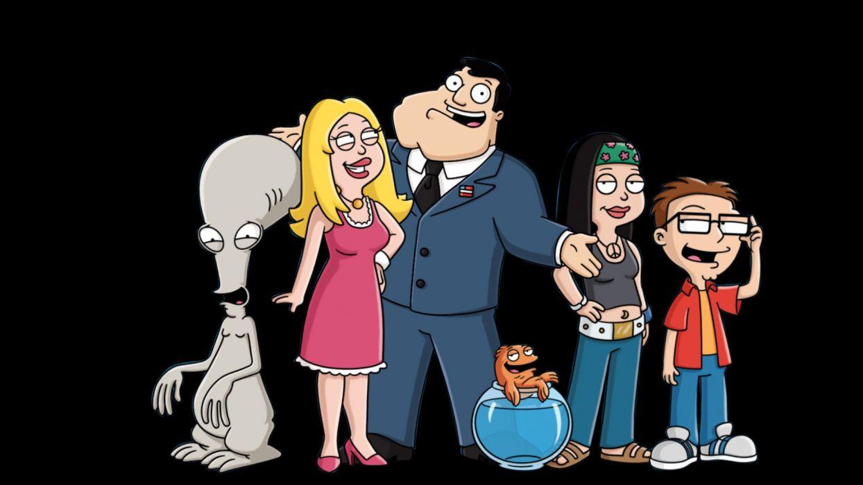 AMERICAN DAD animation comedy cartoon series family (4) wallpaper