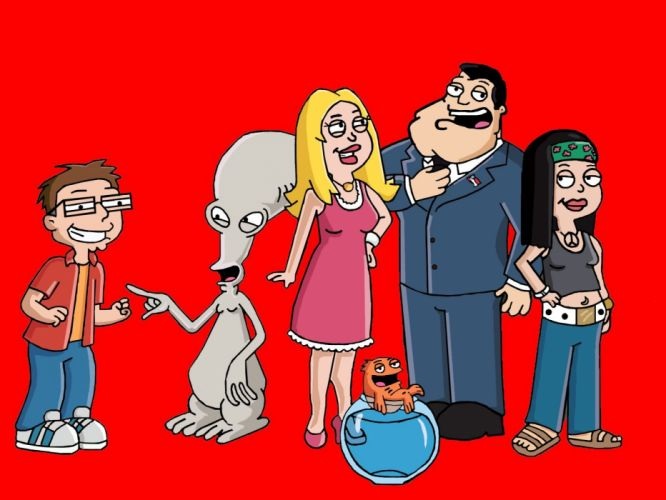 AMERICAN DAD animation comedy cartoon series family (23) wallpaper