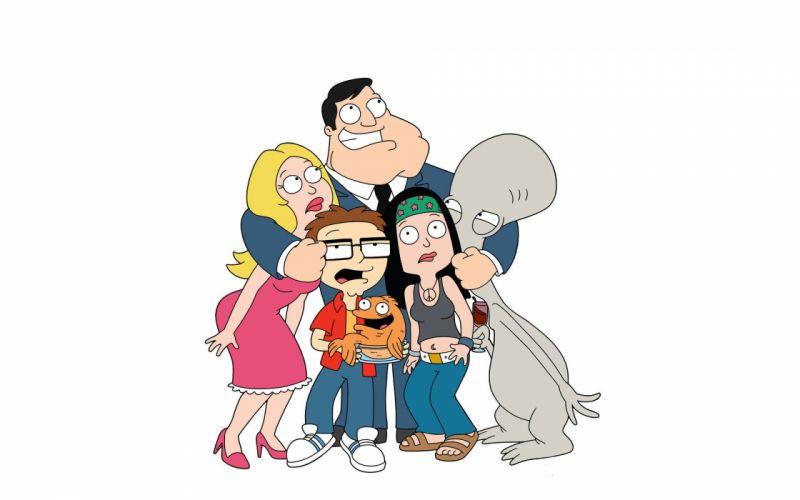 AMERICAN DAD animation comedy cartoon series family (18) wallpaper