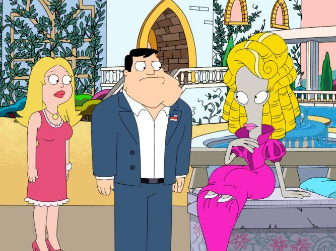 AMERICAN DAD animation comedy cartoon series family (14) wallpaper