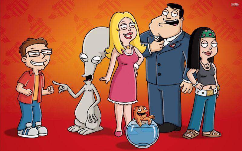 AMERICAN DAD animation comedy cartoon series family (2) wallpaper