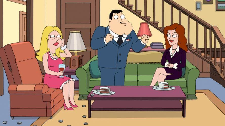 AMERICAN DAD animation comedy cartoon series family (32) wallpaper