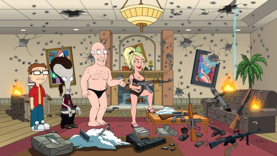 AMERICAN DAD animation comedy cartoon series family (34) wallpaper