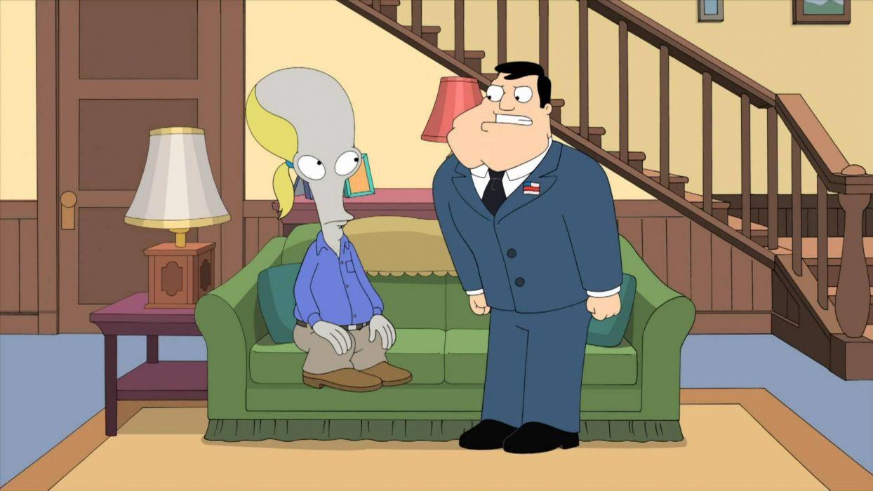 AMERICAN DAD animation comedy cartoon series family (29) wallpaper