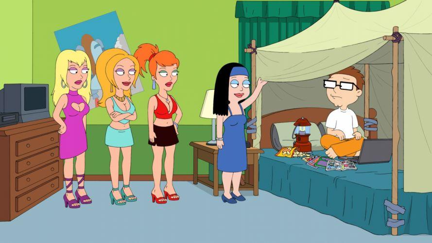 AMERICAN DAD animation comedy cartoon series family (45) wallpaper