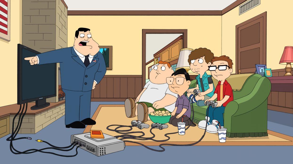 AMERICAN DAD animation comedy cartoon series family (43) wallpaper