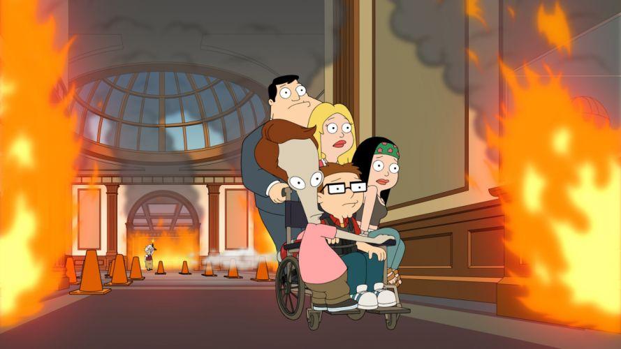 AMERICAN DAD animation comedy cartoon series family (65) wallpaper