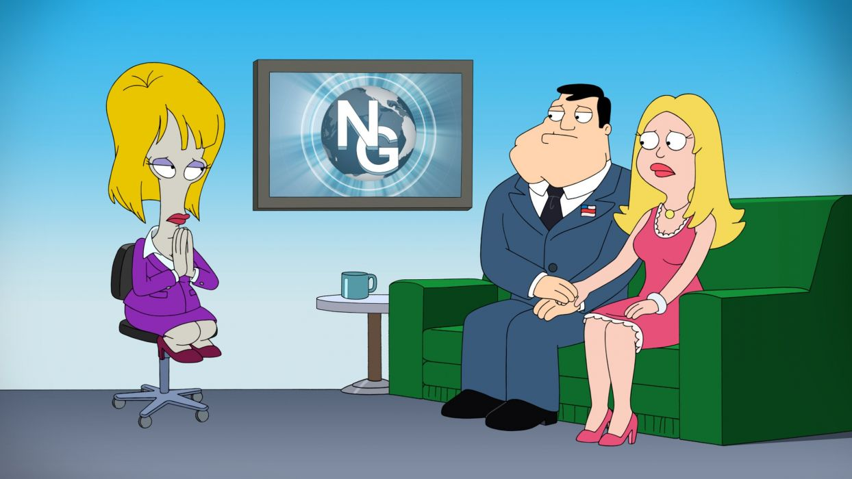 AMERICAN DAD animation comedy cartoon series family (67) wallpaper
