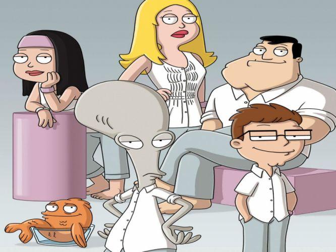 AMERICAN DAD animation comedy cartoon series family (6) wallpaper