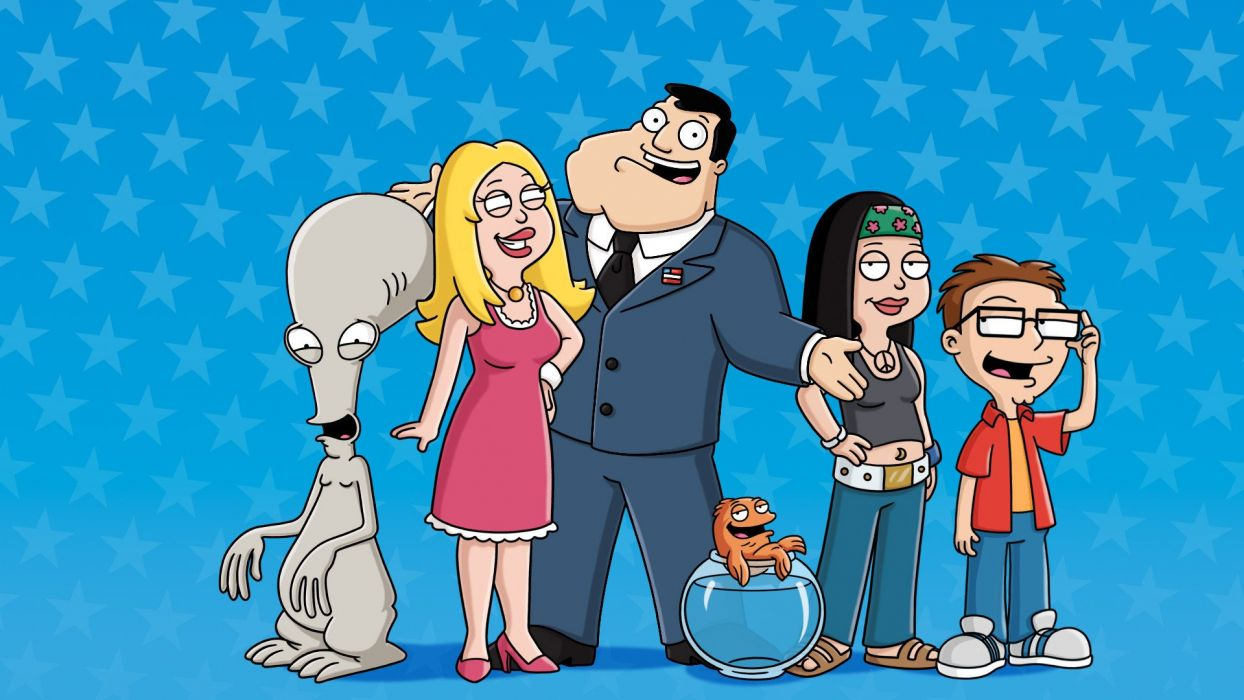 AMERICAN DAD animation comedy cartoon series family (22) wallpaper