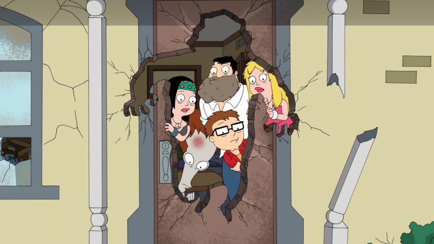 AMERICAN DAD animation comedy cartoon series family (16) wallpaper