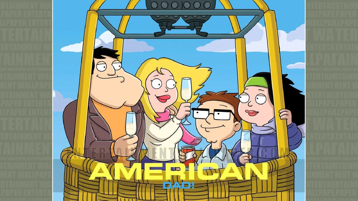 AMERICAN DAD animation comedy cartoon series family (36) wallpaper