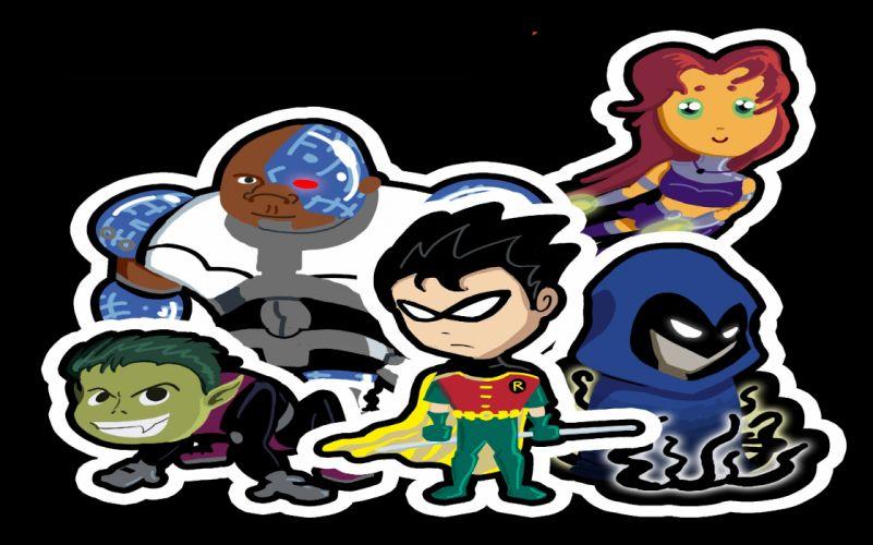 TEEN TITANS animation action adventure superhero dc-comics comic (3) wallpaper