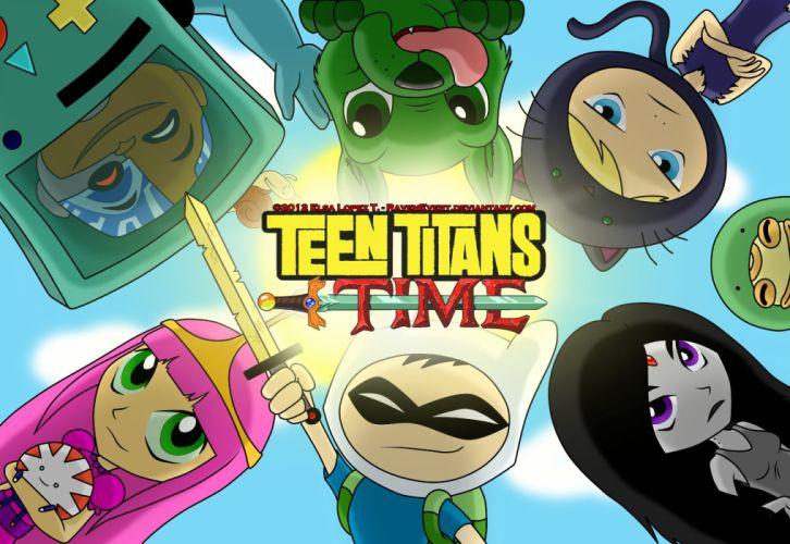TEEN TITANS animation action adventure superhero dc-comics comic (2) wallpaper