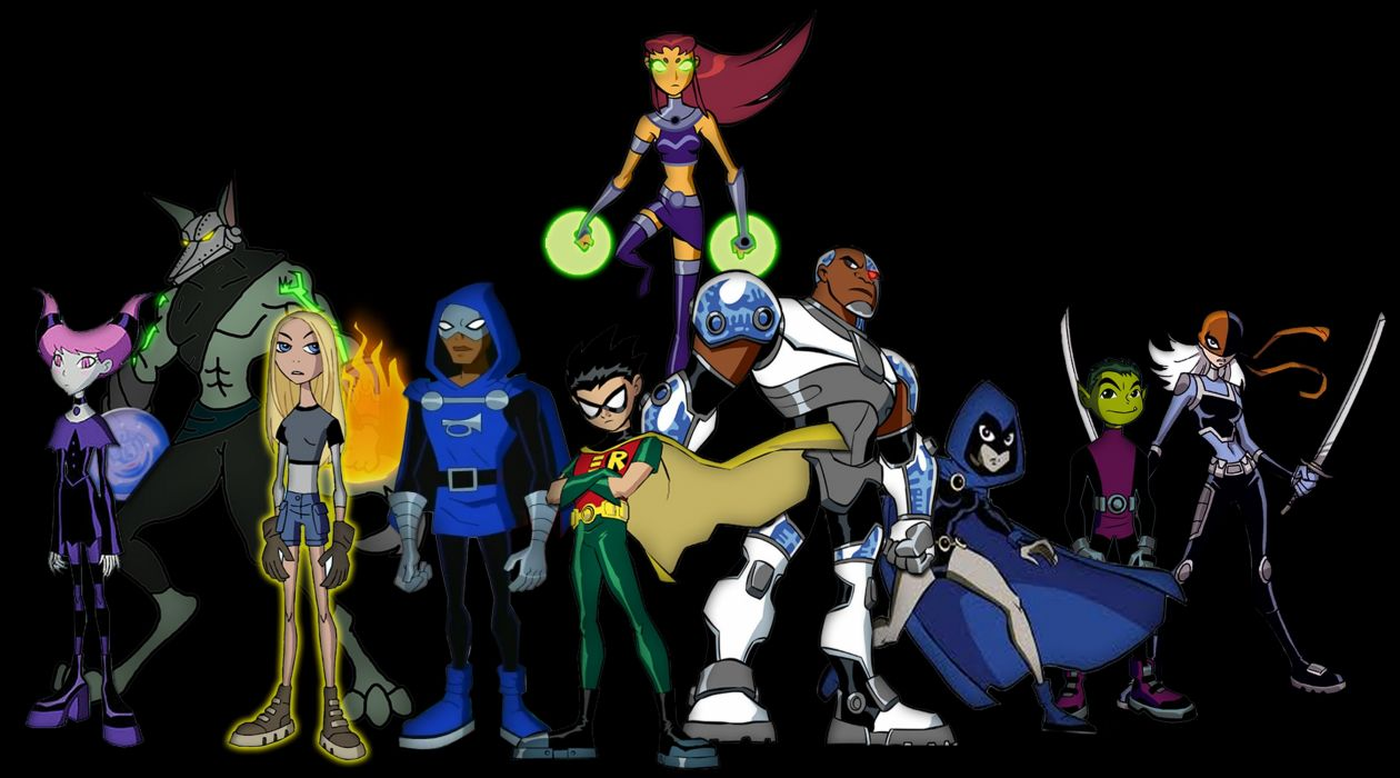 TEEN TITANS animation action adventure superhero dc-comics comic (4) wallpaper