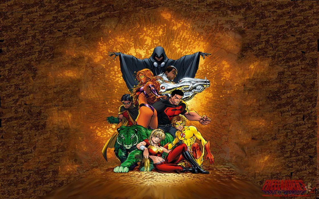 TEEN TITANS animation action adventure superhero dc-comics comic (49) wallpaper