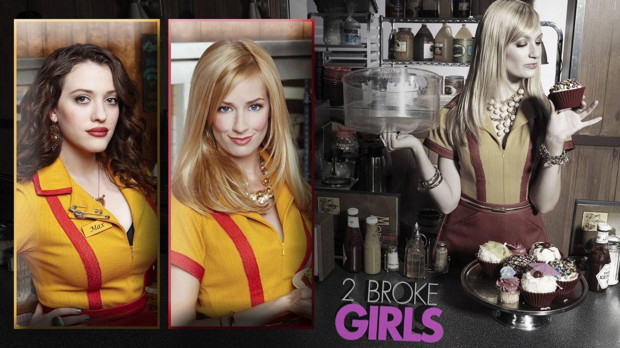 2 BROKE GIRLS comedy sitcom series babe (1) wallpaper
