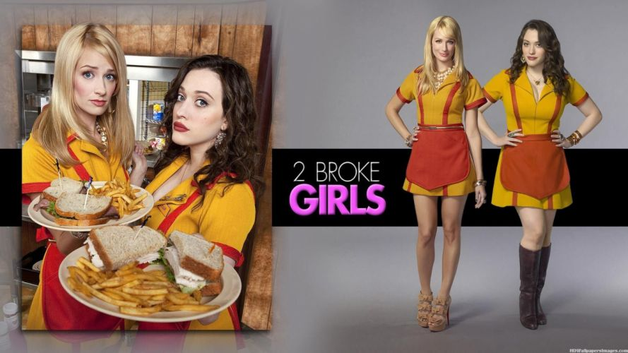 2 BROKE GIRLS comedy sitcom series babe (17) wallpaper