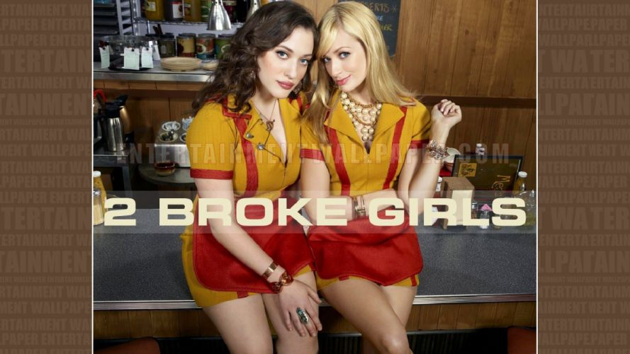 2 BROKE GIRLS comedy sitcom series babe (35) wallpaper