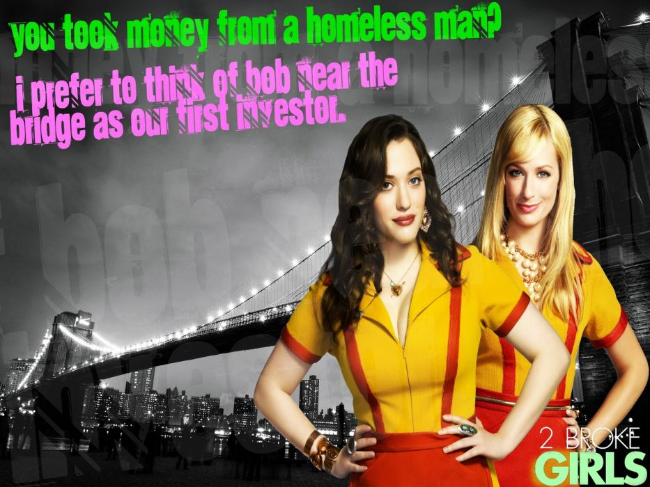 2 BROKE GIRLS comedy sitcom series babe (56) wallpaper