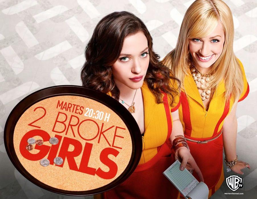 2 BROKE GIRLS comedy sitcom series babe (50) wallpaper