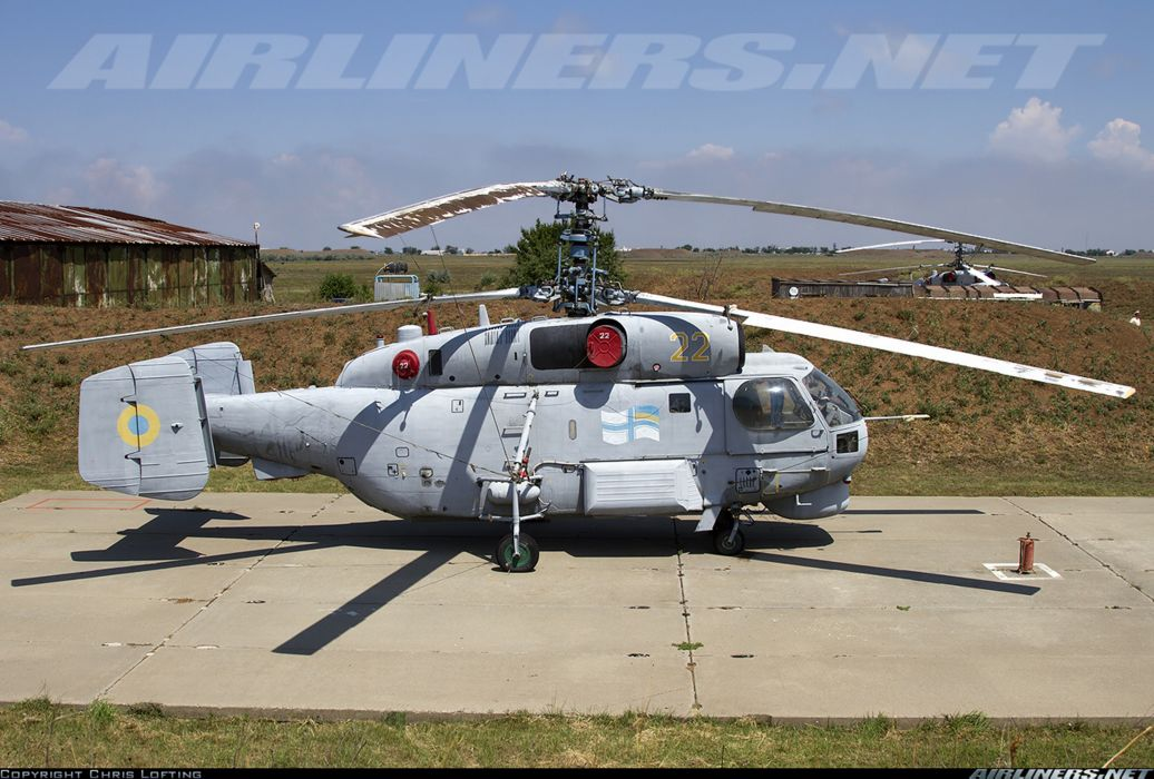 Ukraine helicopter aircraft Kamov Ka-27PL military navy transport rescue wallpaper
