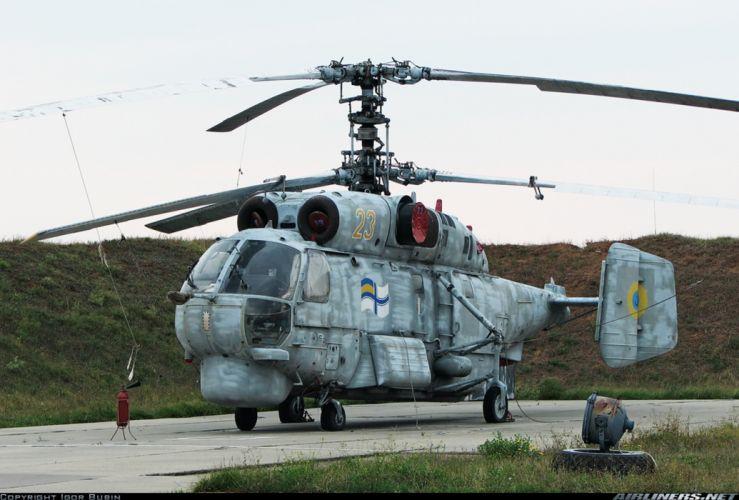 Ukraine helicopter aircraft navy military Kamov Ka-27PL wallpaper