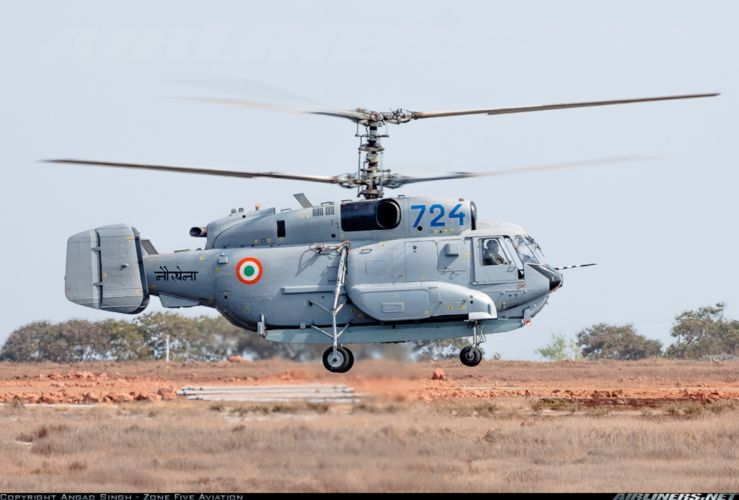 India helicopter aircraft navy military Kamov Ka-31 wallpaper