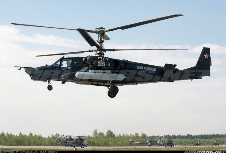Kamov Ka-50 Black Shark russian red star Russia helicopter aircraft attack military army wallpaper