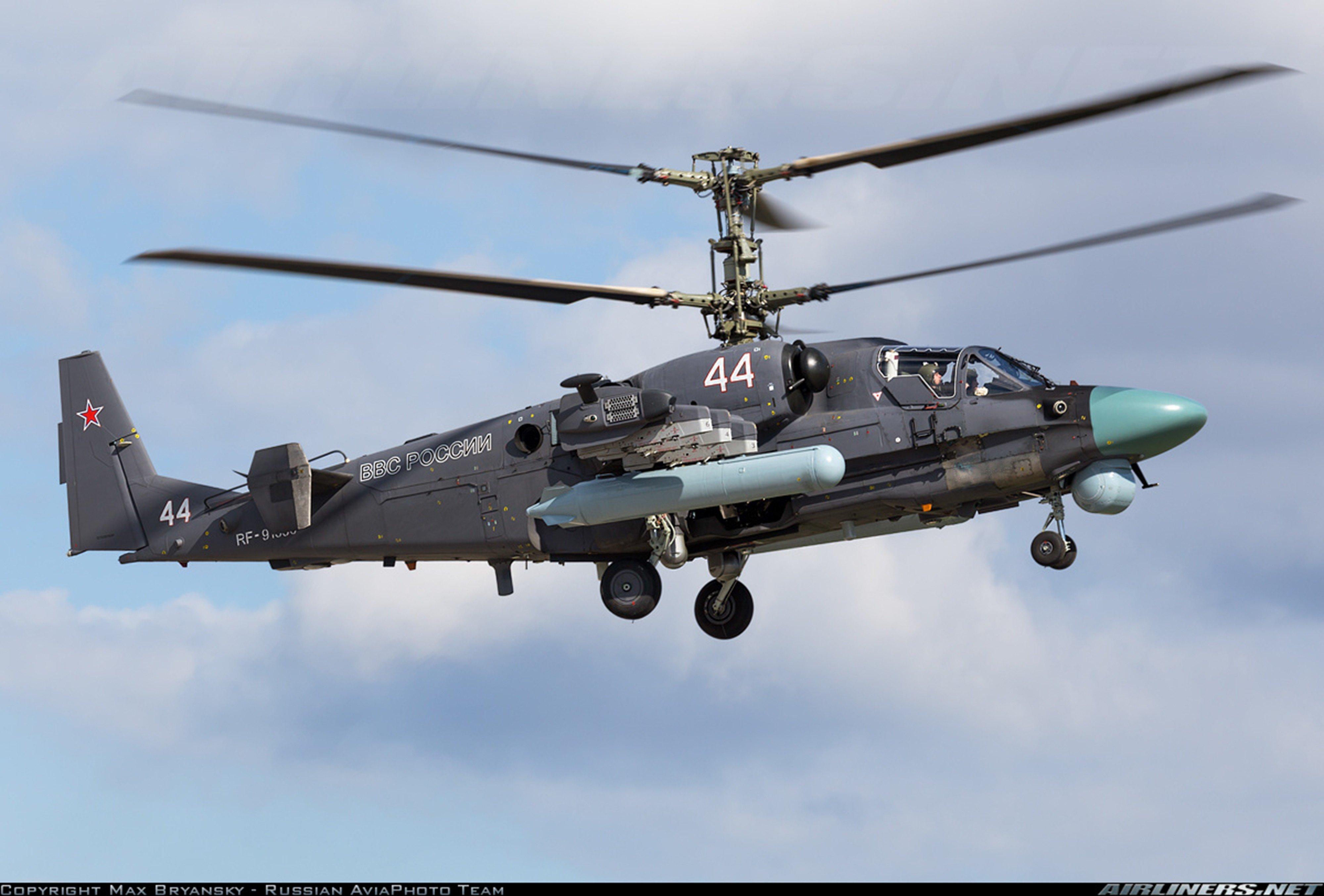 Elicottero Ka 52 : Kamov ka alligator russian red star russia helicopter