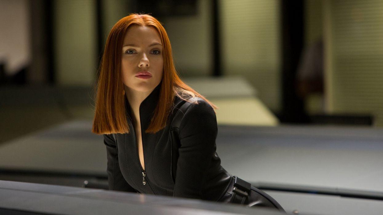 Scarlett Johansson black widow Natasha Romanoff 2014 movie rehead actress babe brunette woman 4000x2250 wallpaper
