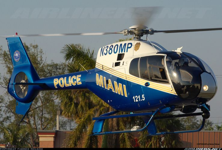 helicopter aircraft police Miami wallpaper