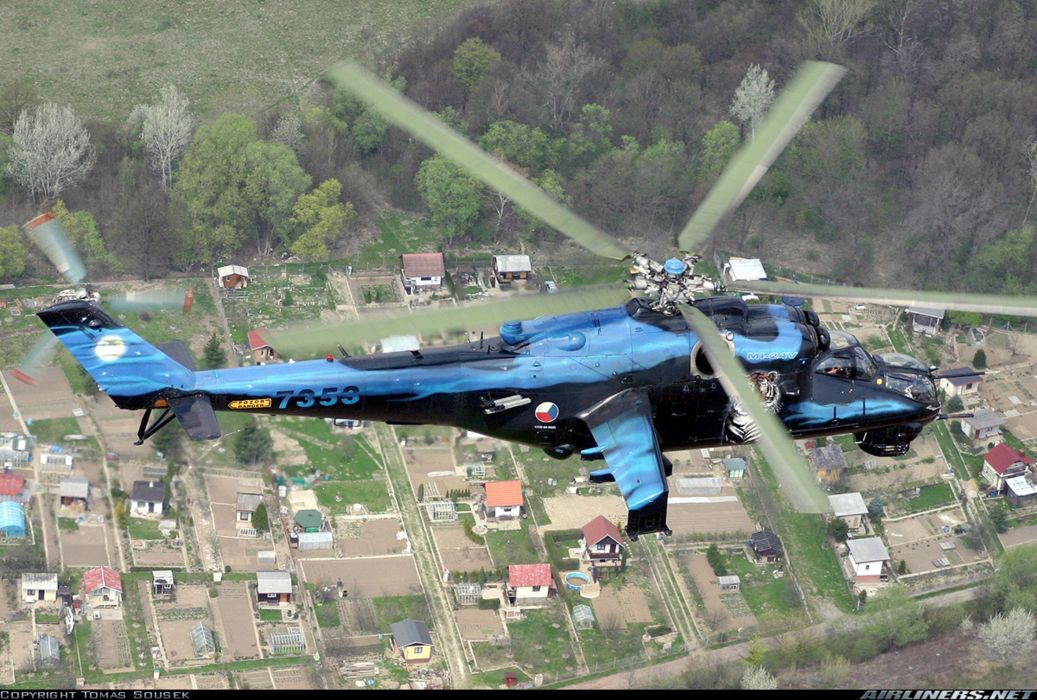 helicopter aircraft attack military army mil-mi Czech -Republic wallpaper