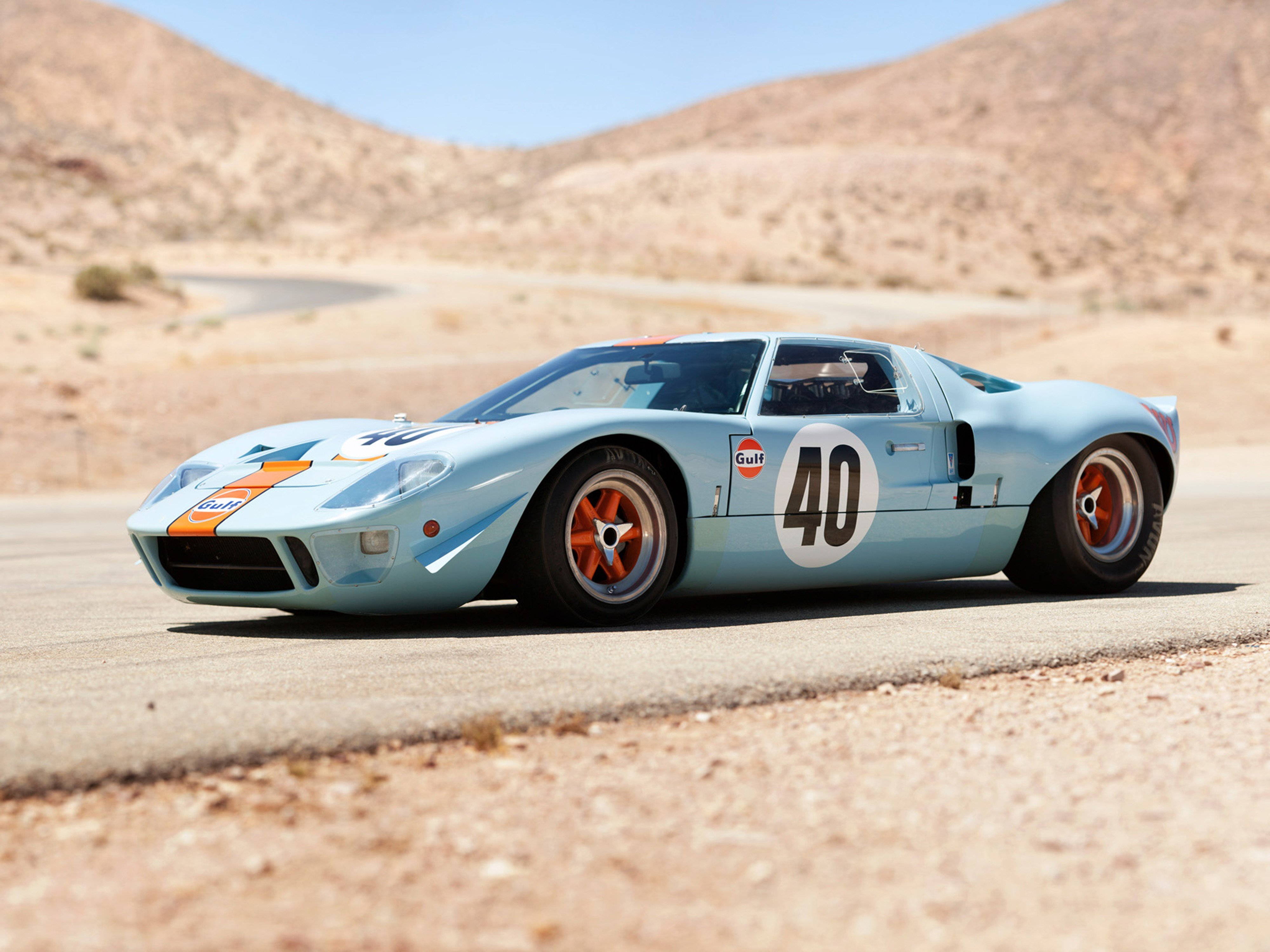 1968 Gulf Ford GT40 Le-Mans Racing Car Race Classic 4000x3000 ...