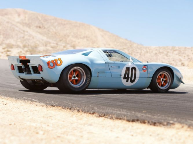 1968 Gulf Ford GT40 Le-Mans Racing Car Race Classic 4000x3000 wallpaper