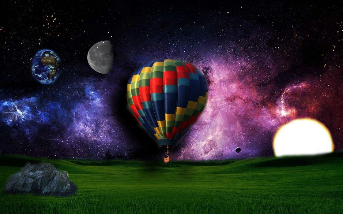 field planet shine parachute wallpaper