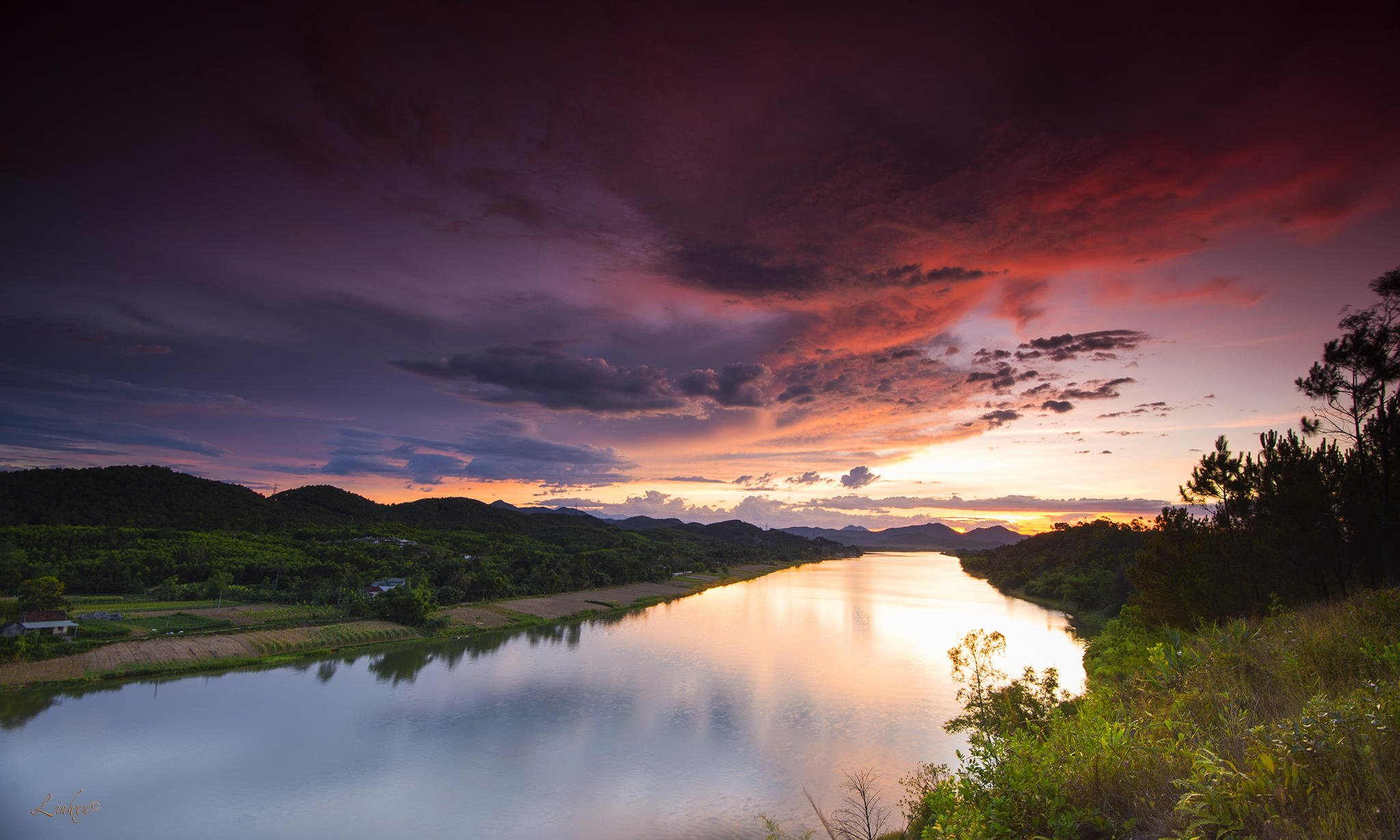 природа небо река  № 3804873 бесплатно
