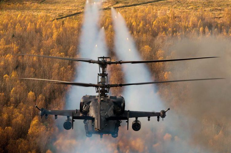 ussian stroke alligatork ka-52 helicopter military autumn wallpaper