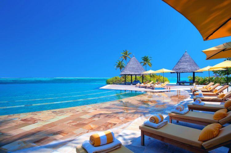 sky sea Maldives holiday ocean wallpaper