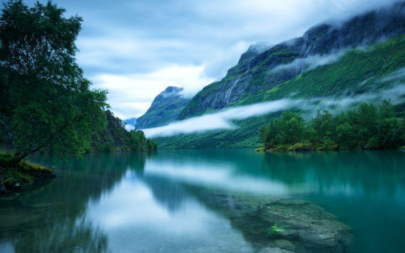 Norway loenvatnet Loen Lake wallpaper