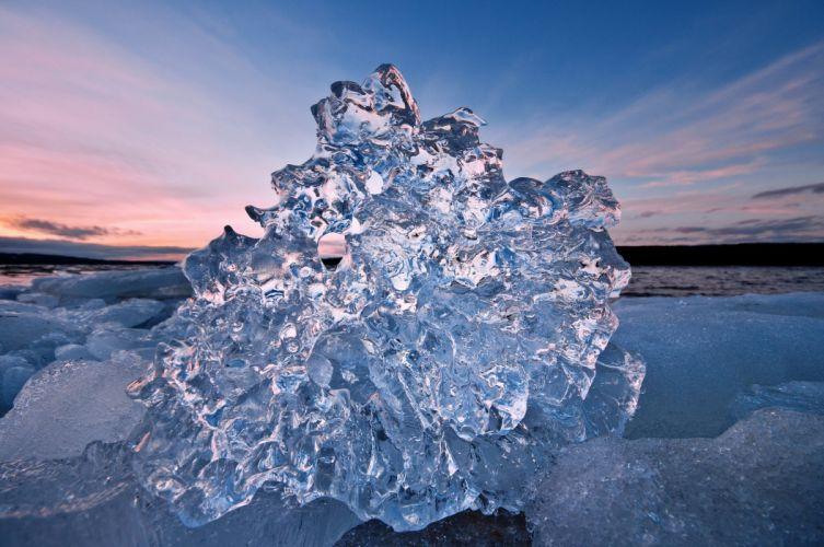 water ice floe sea cold winter wallpaper