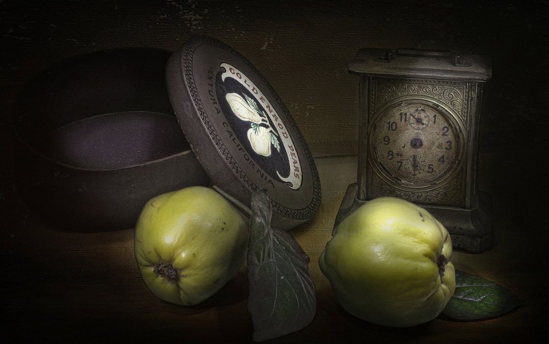 apples box style watches vintage retro painting art still life wallpaper
