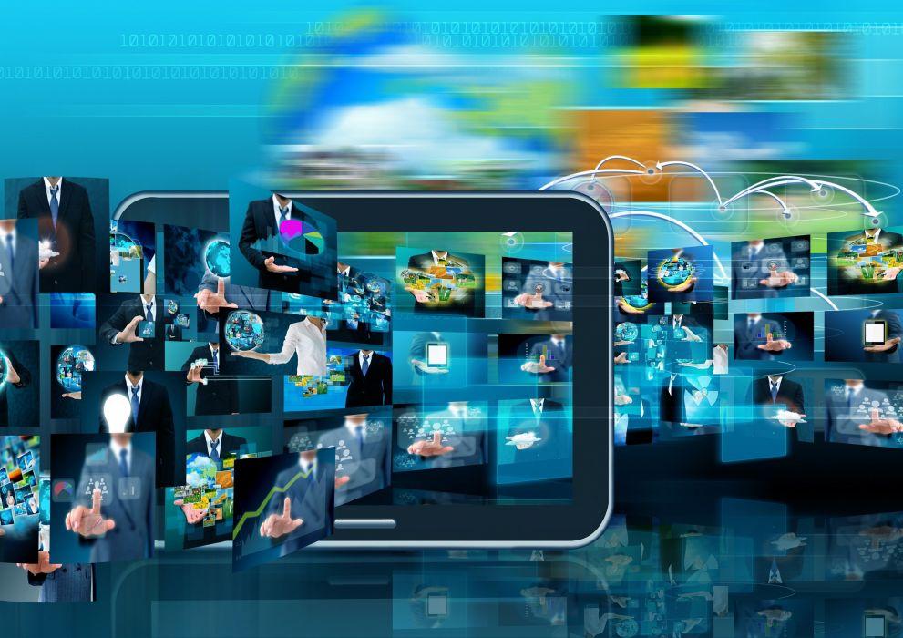 business technology graphics hi-tech computer wallpaper