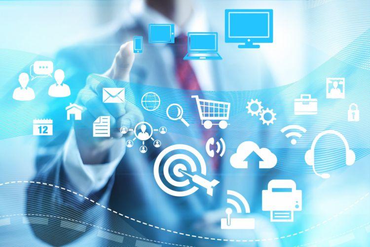 Internet technology business circuit computer wallpaper
