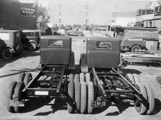 1930 Ford Model-AA 6-Wheel Tractor sermi retro r wallpaper